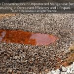 Acid Mine Drainage, Iron Contamination In Manganese Bed